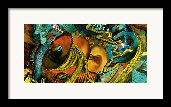 Science Framed Print featuring the painting The Riotous Rope by Anne Weirich