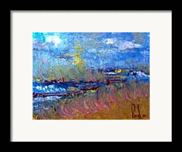 Framed Print featuring the painting The Sea by Carol P Kingsley