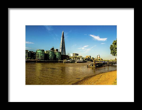 Shard Framed Print featuring the photograph The Shard. by Nigel Dudson