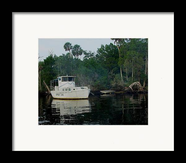 Steinhatchee Framed Print featuring the painting The Spray Can by Debbie May