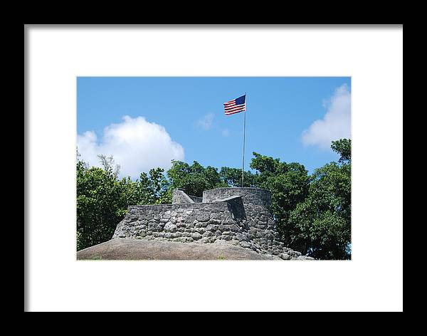 American Flag Framed Print featuring the photograph The Stand by Rob Hans