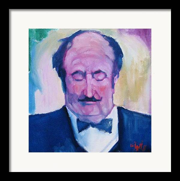 Figure Framed Print featuring the painting The Waiter by Kevin McKrell