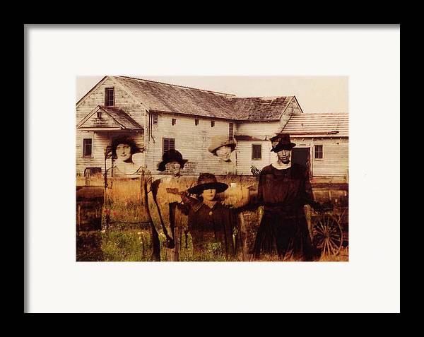 Farm Framed Print featuring the photograph The Woodbine Turned Red by Brande Barrett