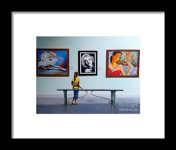 Dancing Framed Print featuring the painting I want to be by Jose Manuel Abraham