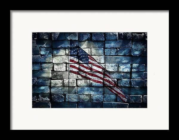 America Framed Print featuring the photograph Together We Stand by Aaron Berg