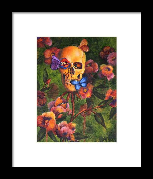 Skull Framed Print featuring the painting Transformation by Wendi Curtis