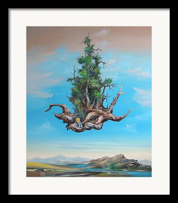 Framed Print featuring the painting Traveller by Zoltan Ducsai