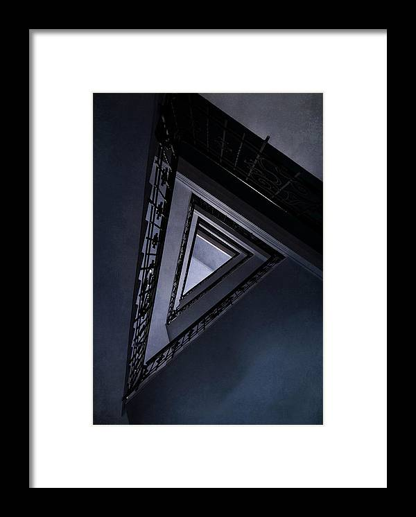 Architecture Framed Print featuring the photograph Triangle Staircase by Jaroslaw Blaminsky