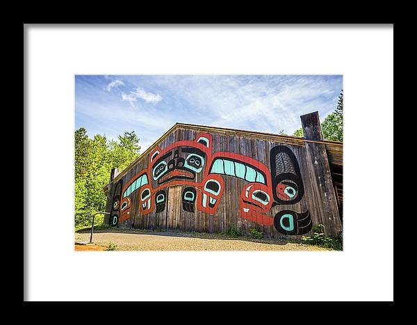 House Framed Print featuring the photograph Tribal Totem Pole In Ketchikan Alaska by Alex Grichenko