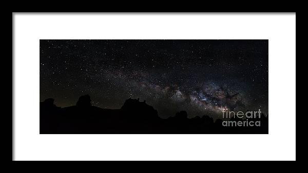 Milky Way Framed Print featuring the photograph Trona Pinnacles Milky Way by Mark Jackson