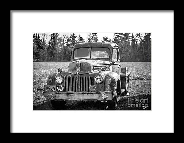 Maine Framed Print featuring the photograph Truck by Alana Ranney