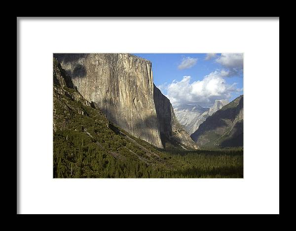 Landscape Framed Print featuring the photograph Tunnel View by Amanda Kiplinger