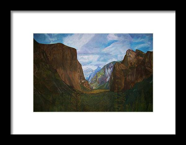 Yosemite Framed Print featuring the painting Tunnel Vision by Arvin Nealy