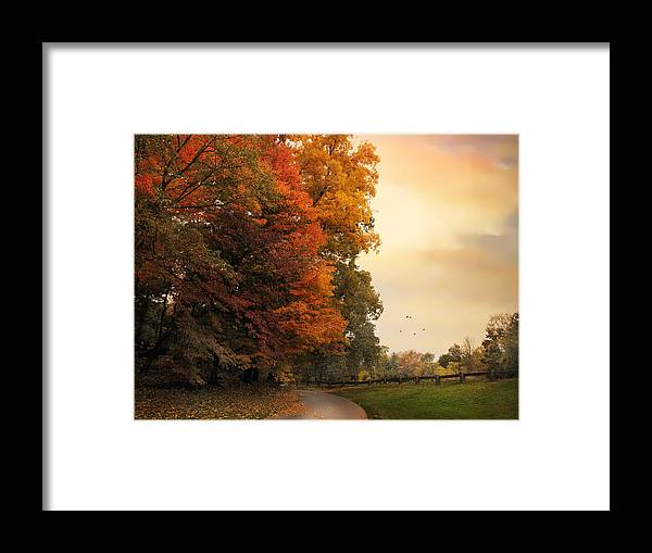 Autumn Framed Print featuring the photograph Turning by Jessica Jenney