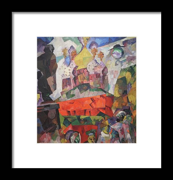 Aristarkh Lentulov Framed Print featuring the painting Tverskoy Boulevard by Aristarkh Lentulov
