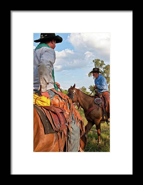 Cowboys Framed Print featuring the photograph Two Cowboys by Toni Hopper