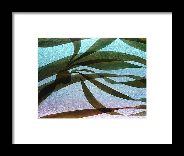 Original Framed Print featuring the painting Under Currents  Detail by Rick Silas