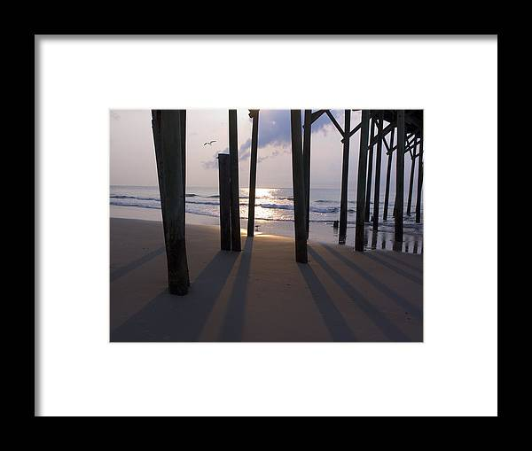 Pier Framed Print featuring the photograph Under Pier by Paul Boroznoff