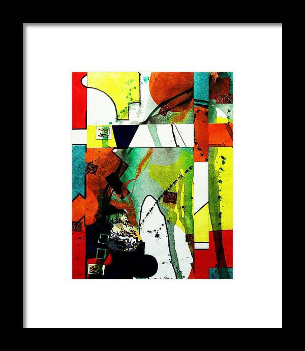 Mixed Media Framed Print featuring the painting Untitled Abstract by Tom Herrin
