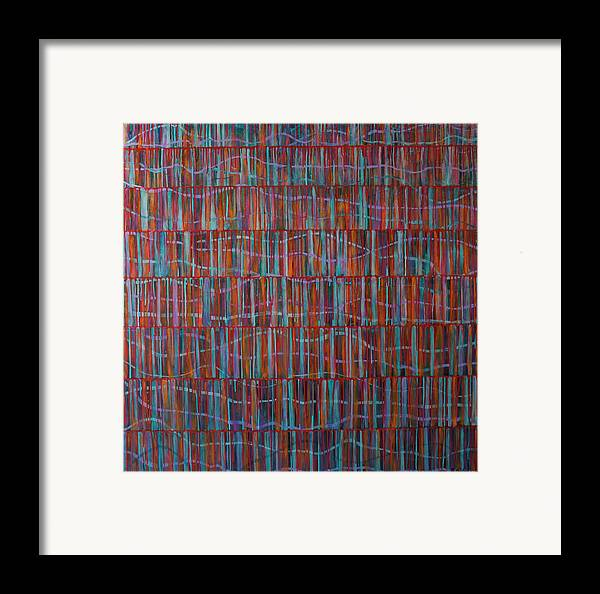Abstract Framed Print featuring the painting Untitled by Betty OHare