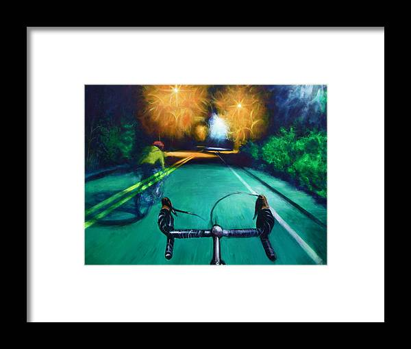 Bicycle Framed Print featuring the painting Untitled by Chris Slaymaker