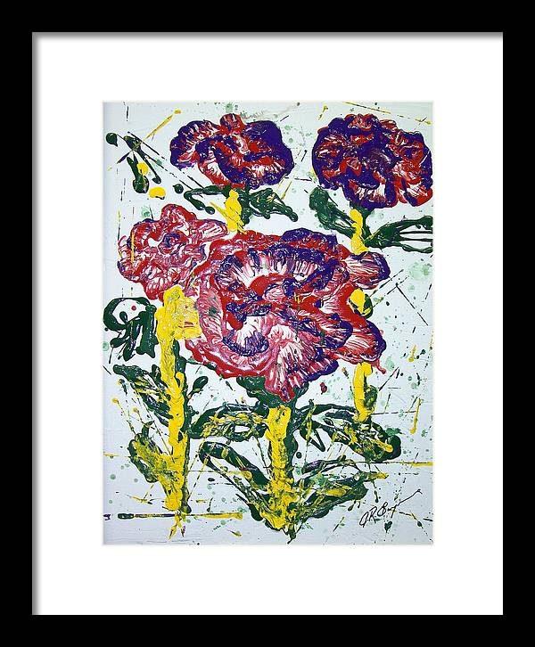 Abstract Painting Framed Print featuring the painting Untitled by J R Seymour
