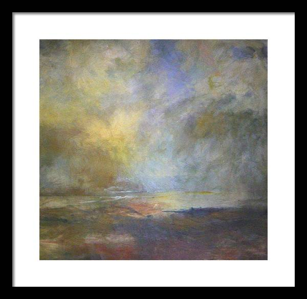 Landscape Framed Print featuring the painting Untitled 1 by Marilyn Muller