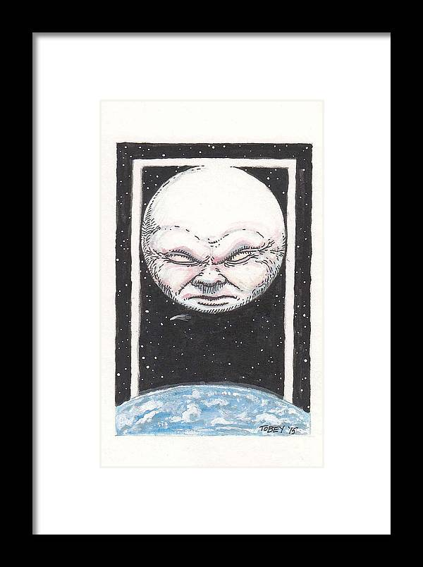 Furniture Framed Print featuring the drawing Untitled by Tobey Anderson