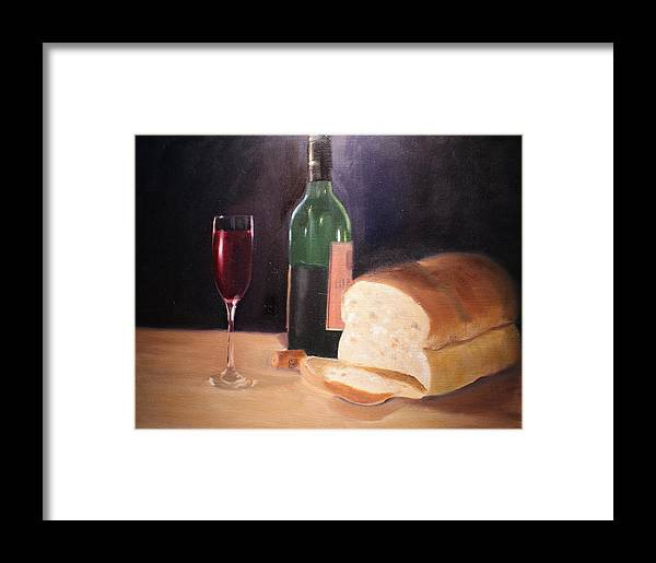 Wine Framed Print featuring the painting Untitled by Toni Berry