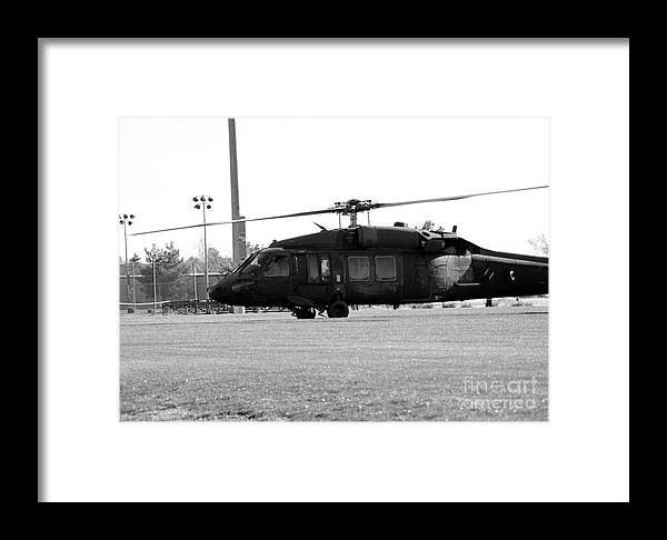 Us Framed Print featuring the photograph Us Army Blackhawks by Brenton Woodruff