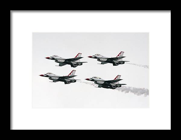 Aircraft Framed Print featuring the photograph Usaf Thunderbirds by Victor Alcorn