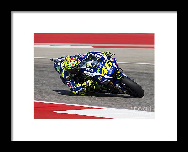 Vale Framed Print featuring the photograph Valentino Rossi by Ara Ashjian