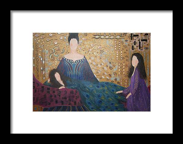 Figures Framed Print featuring the painting Vanity by Sheryl Sutherland