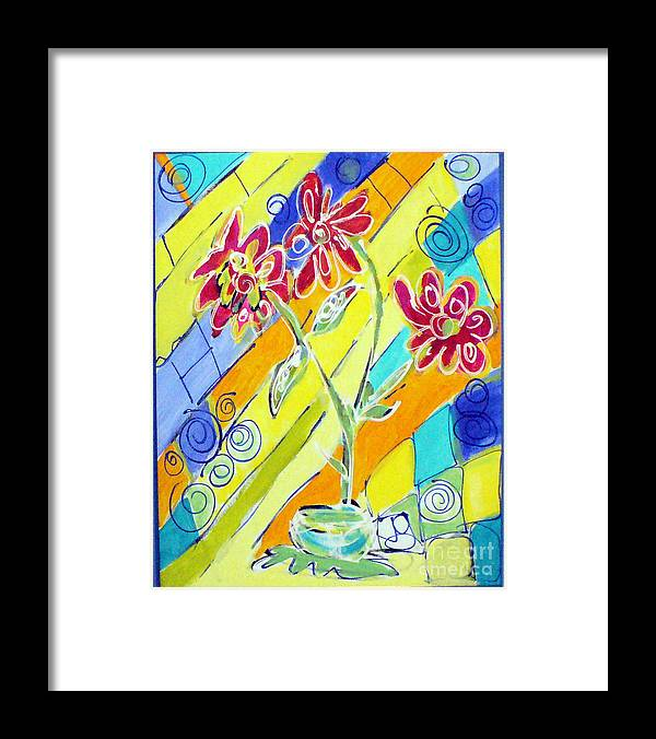 Vase Framed Print featuring the painting Vase by Joyce Goldin