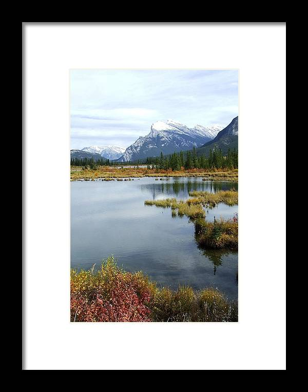 Banff National Park Framed Print featuring the photograph Vermillion Lakes by Tiffany Vest