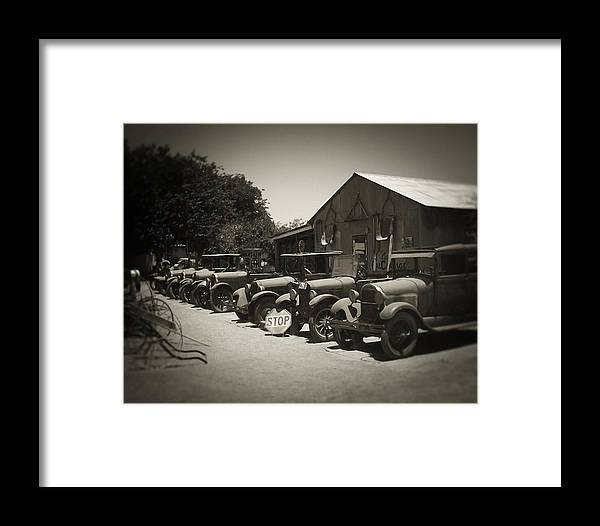 Cars Framed Print featuring the photograph Very Used Cars by Bob Lewis