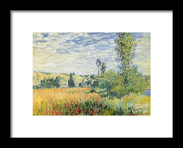 French Framed Print featuring the painting Vetheuil by Claude Monet