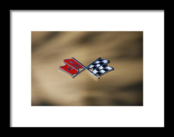 Corvette Framed Print featuring the photograph Vette Flags by Rob Hans