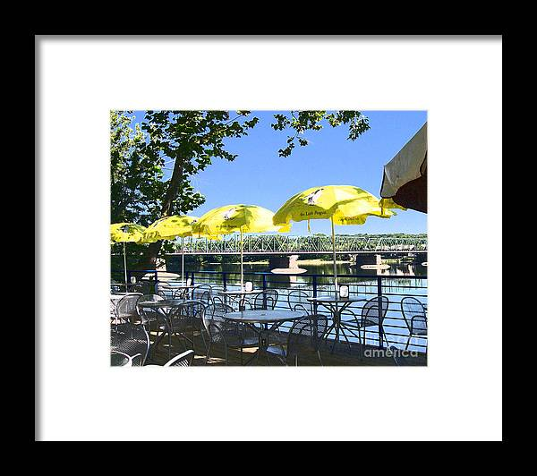 Photography Framed Print featuring the photograph View From Martine by Addie Hocynec