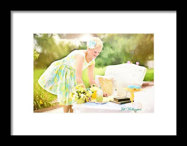 Vintage Val Framed Print featuring the photograph Vintage Val Iced Tea Time by Jill Wellington