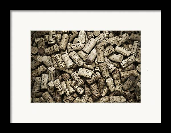 Frank Tschakert Framed Print featuring the photograph Vintage Wine Corks by Frank Tschakert
