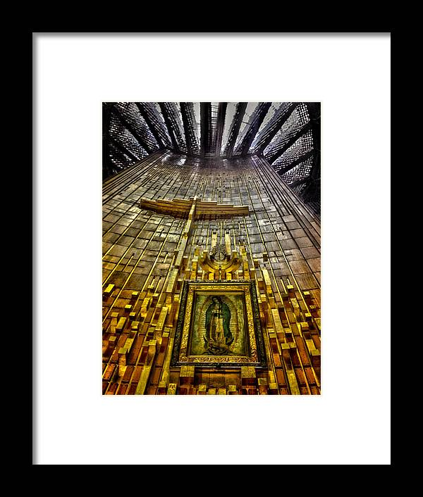 Basilica De Guadalupe Framed Print featuring the photograph Virgen De Guadalupe 7 by Totto Ponce