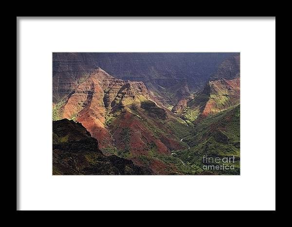 Waimea Framed Print featuring the photograph Waimea Canyon by Neil Doren