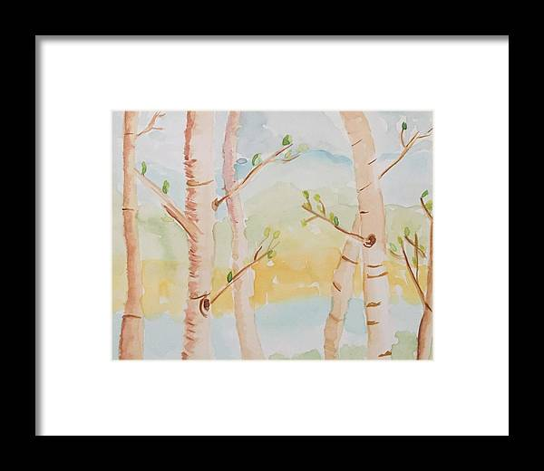 Framed Print featuring the painting Walk In The Woods by Suzanne Marie
