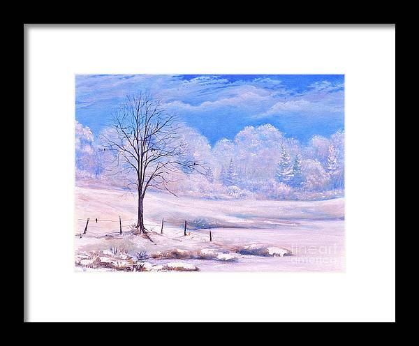 Winter Day Framed Print featuring the painting Warm Cold Day by Penny Neimiller