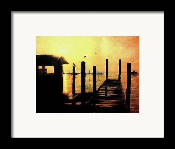 Rural Scenes Framed Print featuring the painting Warm Waters by Travis Ragan