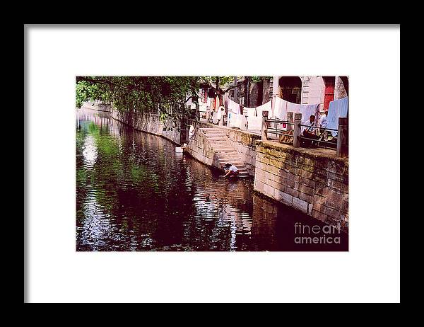 China Framed Print featuring the photograph Wash Day by Andrea Simon
