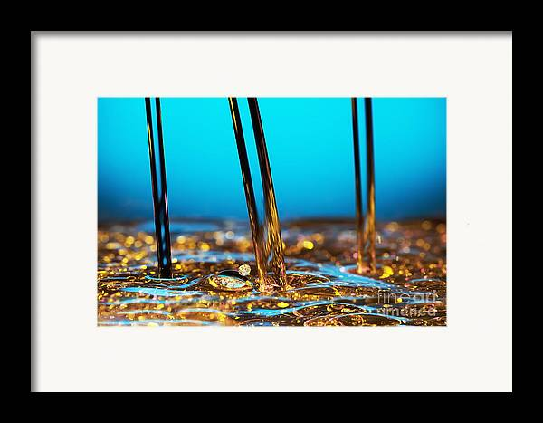 Abstract Framed Print featuring the photograph Water And Oil by Setsiri Silapasuwanchai