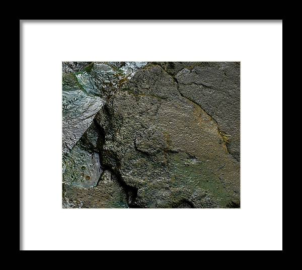 Stone Framed Print featuring the photograph Water And Stone by Marilynne Bull