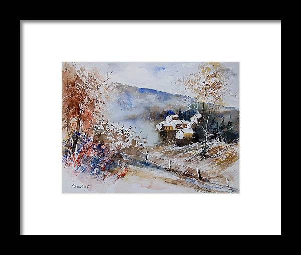 Winter Framed Print featuring the painting Watercolor 902091 by Pol Ledent